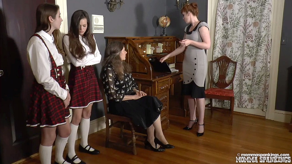 Ava And Dacey Spanked At School | Zoe Page, Miss